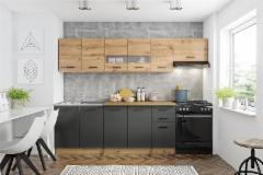 Virtuvės Komplektas Perla 260 cm ąžuolas artisan Virtuvės baldų komplektai