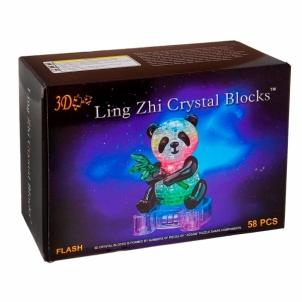 3D dėlionė Panda (Ar gaismu) Dėlionės vaikams