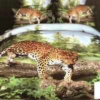 3D patalynės komplektas ''Laukinis Pasaulis'', 6 dalių, 160x200 cm