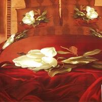 3D patalynes komplektas ''Liepsnojanti Romantika'', 3 dalių, 200x220 cm