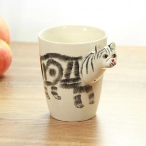 3D Puodelis Katė