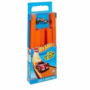 4 metrų ilgio trasa Mattel Hot Wheels Track Builder Pack with Vehicle