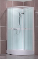 4000249 SIMPLE 90x90, dušo boksas (kabina, padėklas, maišytuvas) Dušas kabīnes