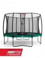 430cm Batutas su apsauginiu tinklu BERG Champion Deluxe Green (iki 600kg) Batutai