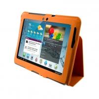 4World dėklas-stovas skirtas Galaxy Tab 2, plonas, 10, oranžinis