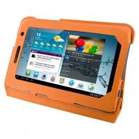 4World dėklas-stovas skirtas Galaxy Tab 2, plonas, 7, oranžinis