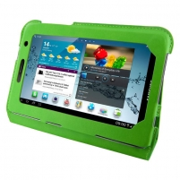 4World dėklas-stovas skirtas Galaxy Tab 2, plonas, 7, žalias Tablet pc accessories