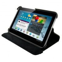 4World dėklas-stovas skirtas Galaxy Tab 2, Rotary, 7, juodas