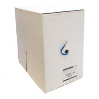 4World Instaliacinis kabelis UTP, 4x2, kat.6,viela 305m,CU-grynas varis, mėlynas