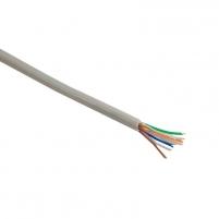 4World Instaliacinis kabelis UTP,4x2, kat.5e,viela 100m, CU-grynas varis, pilkas