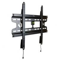 4World LCD/PDP sieninis laikiklis 37- 50 fiksuotas SLIM TV svoris iki 50kg BLK TV stovai, laikikliai