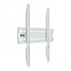 4World LCD sieninis laikiklis 20''- 50'' fiksuotas, SLIM, TV svoris iki 50kg WHT TV stovai, laikikliai