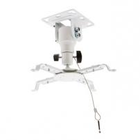 4World Projektoriaus laikiklis, pasukamas/palenkiamas, 15,5 cm,luboms,WHT