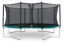 520x345cm Batutas su apsauginiu tinklu BERG GRAND Favorit Comfort Green (iki 600kg)