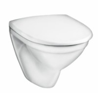 5530 Nautic hanging toilet with cover, baltas