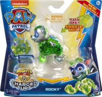6055929 Spin Master Paw Patrol Mighty Pups Charged Up Figure - ROCKY