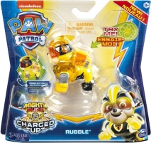 6055929 Spin Master Paw Patrol Mighty Pups Charged Up Figure - RUBBLE