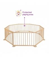 8 dalių medinė apsauginė tvorelė-maniežas Playpens for kids