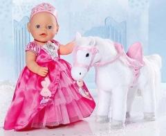 820346 Интерактивная игрушка Baby Born Лошадка Белая ZAPF CREATION