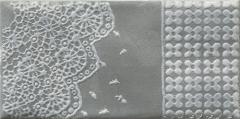 9.8*19.8 MOLI NERO INS D, dekoruota plytelė