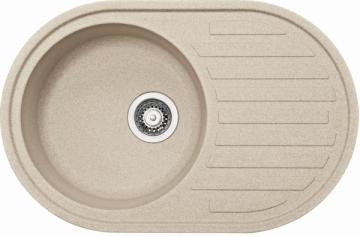 Akmens masės plautuvė FRANKE RONDA ROG 611 Biežinė, ventilis užkemšamas The weight of the stone kitchen sinks
