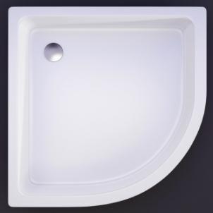 Akmens masės pusapvalis dušo padėklas VISPOOL R-90 (r550) Shower tray