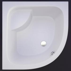 Akmens masės pusapvalis dušo padėklas VISPOOL RD-90 gilus (r550) Dušas teknes