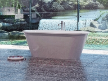 Akmens masės vonia VISPOOL ACCENT 168x70 balta Vonios
