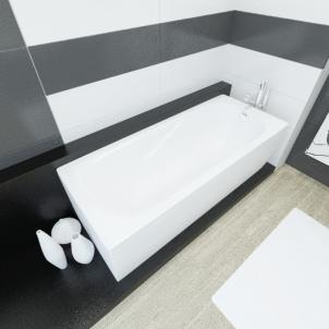 Akmens masės vonia VISPOOL CLASSICA 180x75 stačiakampė balta