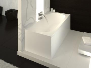 Akmens masės vonia VISPOOL LIBERO 180x80 stačiakampė balta In the bathroom