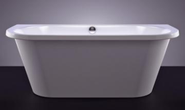Akmens masės vonia VISPOOL ONDA 175x75 stačiakampė balta