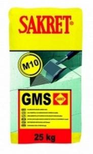 Klijai GMS/F (-10laips.) 25 kg akyto betono blokeliams Statybinių blokelių klijai