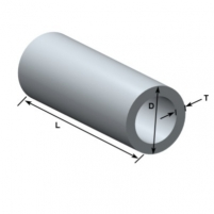 Aliuminio vamzdis 8x1x4000 Aliuminis