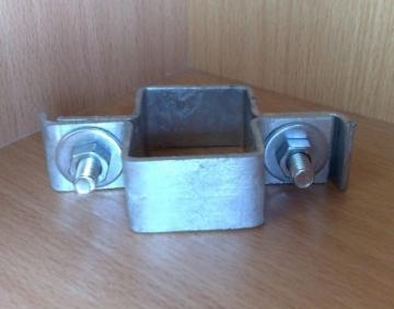 Galvanized clamps 40x60 (tarpiniam stulpui)