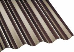 PVC corrugated sheet sinus 900x2000 mm (1,8 m²) bronze