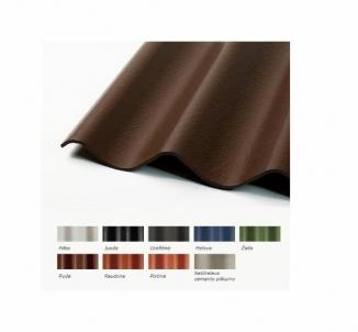 Non-asbestos slate sheets 1250x1150 'Eurofala' red