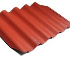 Beasbestinio šiferio lakštas 585x920 Eternit Gotika klasikinė raudona