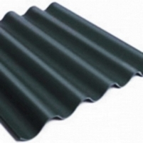 Non-asbestos slate sheets 875x920 'Baltijos banga' black