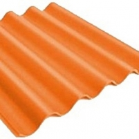Non-asbestos slate sheets 875x920 Baltijos banga classic red Non-asbestos slate