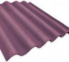 Non-asbestos slate sheets 875x920 'Baltijos banga' cherry Non-asbestos slate