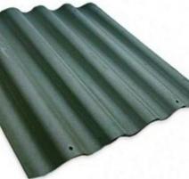 Non-asbestos slate sheets 875x920 'Baltijos banga' green Non-asbestos slate