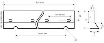 Betonavimo profilis BF 40 Concrete profiles, galvanised