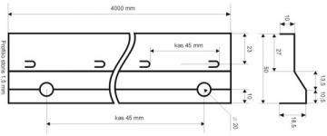 Betonavimo profilis BF 50 Concrete profiles, galvanised