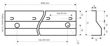 Betonavimo profilis BF 70 Concrete profiles, galvanised