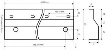 Betonavimo profilis BF 90 Concrete profiles, galvanised