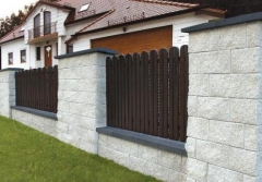 Concrete fence block Nojus A-3 (white) Fence elements pamūros