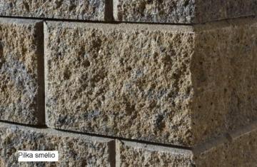 Concrete fence block Nojus B-1 (brown) Fence elements pamūros
