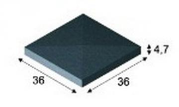 Concrete fence canopies (four slopes) E5 36x36x4,7 cm Concrete fencing canopies