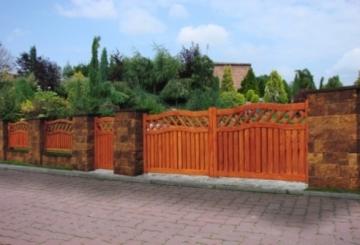 Betoninis tvoros stulpo elementas Matas L 'Auksinis ruduo' (D-1) Fence pole items