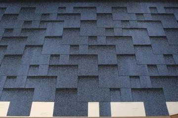 Bitumen roof shingles Super Rocky blue Bitumen roof shingles (tiles)